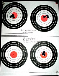 photo of targets shot with the rifle